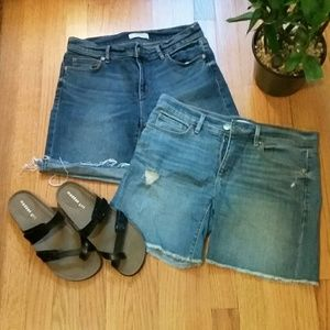 "LOFT 2x Women Jeans Shorts Size 26/2 6"" Inseam"